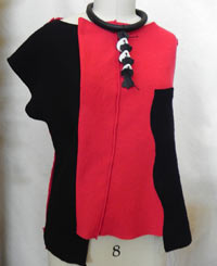 red and black tunic by Jan Badgley